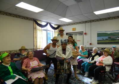 Staff at Winslow Gardens performed for the residents