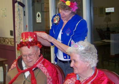 Linn Health Care Center Valentine's Day King and Queen