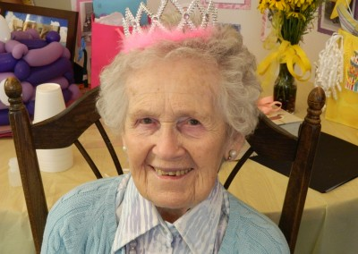 Norma McDonald at her 100th birthday party